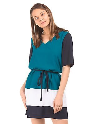 Nautica Colour Block Belted Dress