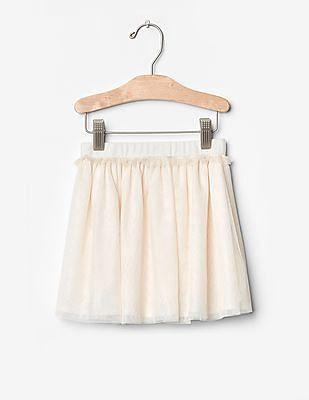 GAP Toddler Girl White Tulle Circle Skirt