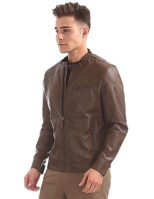 U.S. Polo Assn. Denim Co. PU Biker Jacket