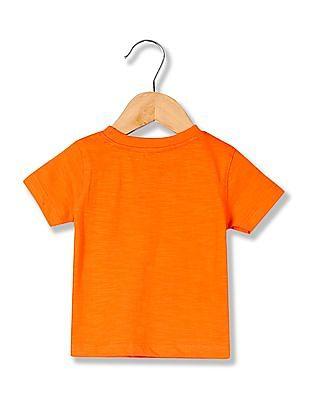 Colt Boys Round Neck Printed T-Shirt