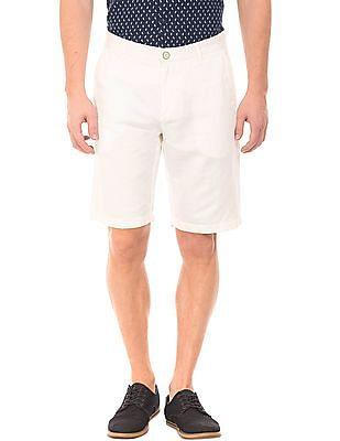 U.S. Polo Assn. Slim Fit Cotton Linen Shorts