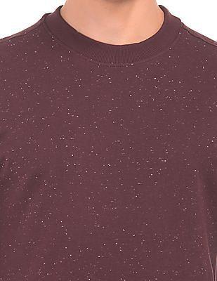 Cherokee Speckled Knit Crew Neck Sweatshirt