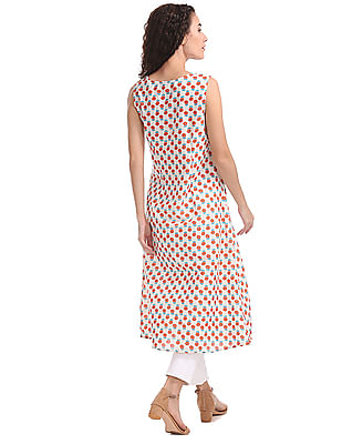Anahi Printed Kurta With Coverup