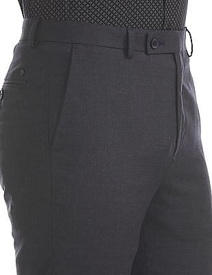 Arrow Newyork Tapered Fit Patterned Trousers