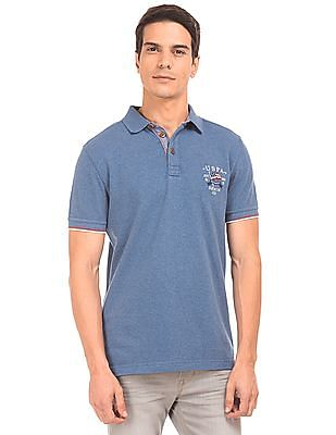 U.S. Polo Assn. Denim Co. Muscle Fit Pique Polo Shirt