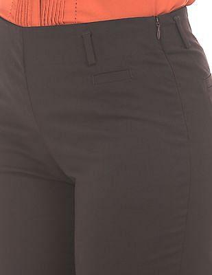 Arrow Woman Elasticized Waist Flat Front Trousers