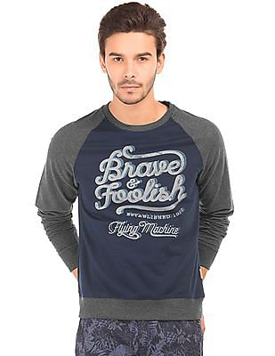 Flying Machine Printed Regular Fit Sweatshirt
