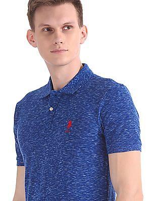 U.S. Polo Assn. Short Sleeve Heathered Polo Shirt
