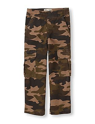 The Children's Place Boys Green Pull-On Cargo Pants