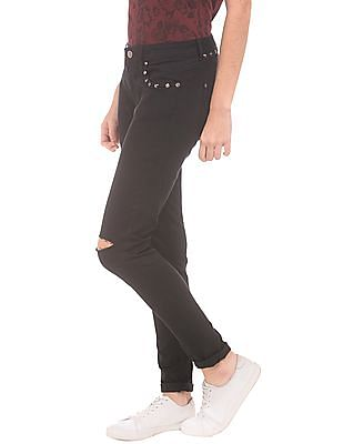 EdHardy Women Distressed Super Skinny Fit Jeans