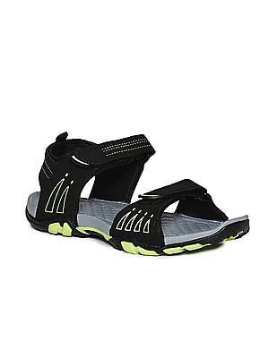 Ruggers Black Velcro Strap Colour Block Sandals