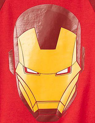 GAP Baby Mad Engine Iron Man Baseball Tee