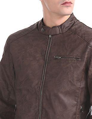 Izod Quilted Panel Biker Jacket