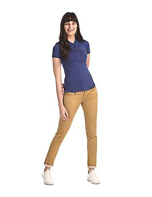Flying Machine Women Brown Twiggy Super Skinny Fit Low Waist Jeans