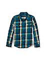 The Children's Place Boys Long Sleeve Plaid Twill Button-Down Shirt