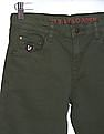 U.S. Polo Assn. Kids Solid Mid Rise Trousers