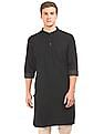Arvind Regular Fit Dobby Long Kurta