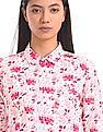 U.S. Polo Assn. Women Tie Up Sleeve Floral Print Shirt