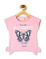 Donuts Pink Girls Bow Accent Embellished T-Shirt