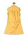 U.S. Polo Assn. Kids Girls Smocked Mandarin Collar A-Line Dress