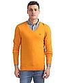 Arrow Sports Regular Fit Heathered Sweater