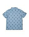 Cherokee Boys Short Sleeve Cactus Print Shirt