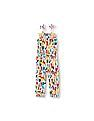The Children's Place Toddler Girl Multi Colour Sleeveless Jumpsuit