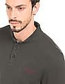 Ed Hardy Solid Stand Collar Polo Shirt