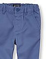 The Children's Place Toddler Boy Blue Solid Twill Skinny Chino Pants