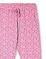 SUGR Pink Geometric Print Knit Lounge Pants