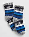 GAP Baby Blue Cozy Holiday Graphic Socks