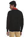 Izod Tipped V-Neck Solid Sweater