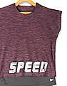 Cherokee Purple And Charcoal Girls Active Twofer Top