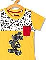 Colt Boys Short Sleeve Mickey Mouse Print T-Shirt
