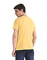 Colt Yellow Printed Cotton Jersey T-Shirt