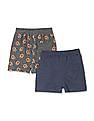 Donuts Assorted Boys Printed Knit Shorts - Pack Of 2