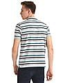 Ruggers Grey Short Sleeve Striped Polo Shirt