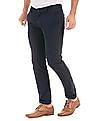 Arrow Sports Navy slim-fit casual chinos