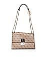 GUESS Brand Print Magnetic Snap Sling Bag