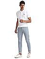 U.S. Polo Assn. Blue Austin Trim Regular Fit Printed Trousers