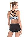 Aeropostale Abstract Print Racerback Sports Bra