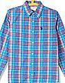 U.S. Polo Assn. Kids Boys Spread Collar Check Shirt