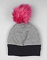 GAP Baby Grey Happy Pom Pom Beanie