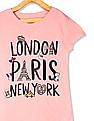 The Children's Place Pink Girls Graphic Print Cotton T-Shirt
