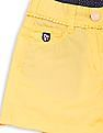 U.S. Polo Assn. Kids Girls Bobble Trim Cotton Shorts