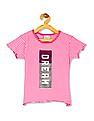 Cherokee Girls Sequin Embellished Striped T-Shirt