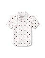 The Children's Place Toddler Boy Short Sleeve Printed Button-Down Poplin Shirt