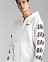 GAP White Logo Print Hooded Sweatshirt