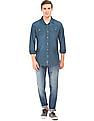 Cherokee Slim Fit Washed Chambray Shirt