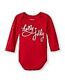 The Children's Place Baby Full Sleeve Holly Jolly Bodysuit